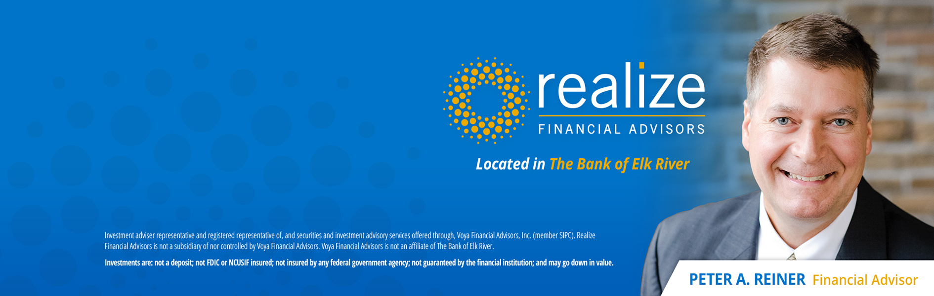 Image of Pete Reiner, Financial Advisor with Realize Financial Advisors.
