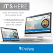 Image of computer and laptop with screens displaying updated redesign of www.thebankofelkriver.com