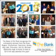 Collage of scholarship winners from area high schools with The Bank of Elk River employees.