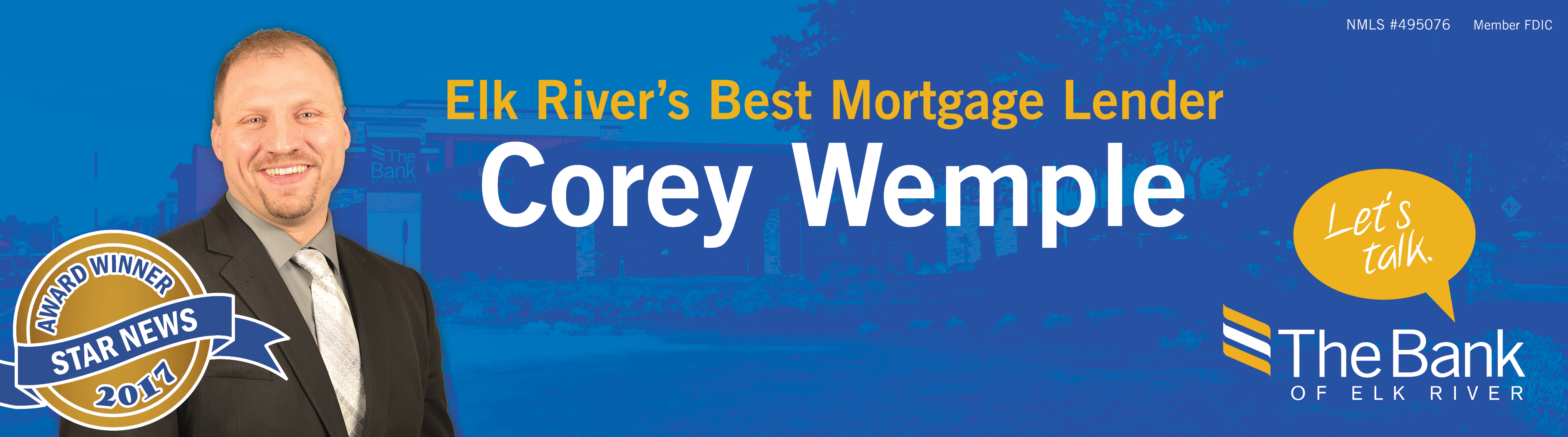 Corey Wemple - Best Banker