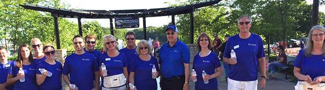 Volunteers at the Riverfront Concert series